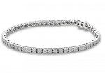 Tennis Bracelet 5.88 Ct Natural Diamond Solid White Gold Natural Certified